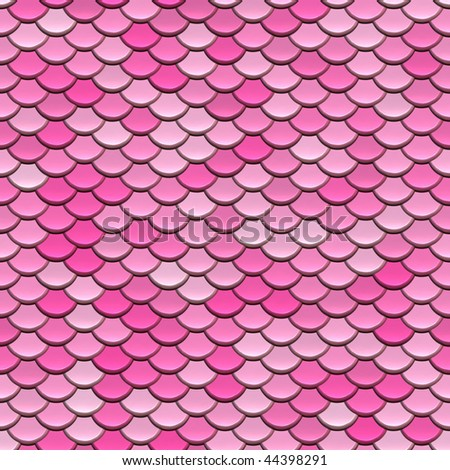 Candy pink circular tiles or shingles seamless background. - stock photo