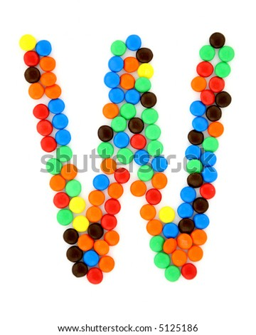 Candy W - stock photo