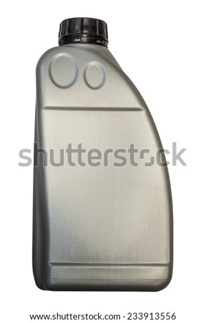 canister of liquid on a white background - stock photo
