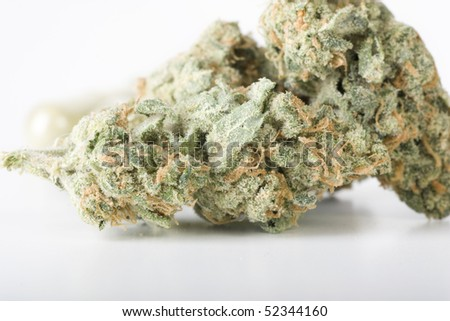 Cannabis bud closeup - stock photo