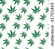 cannabis seamless pattern extended, abstract texture; art illustration; for vector format please visit my gallery - stock vector
