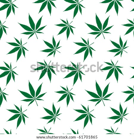 cannabis seamless pattern extended, abstract texture; art illustration; for vector format please visit my gallery - stock photo