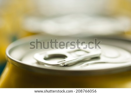 canned beer - stock photo