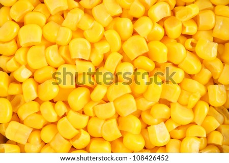 Canned corn background - stock photo
