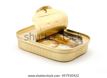 canned fish studio isolated over white