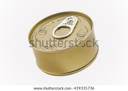 Canned Isolated On White Background.