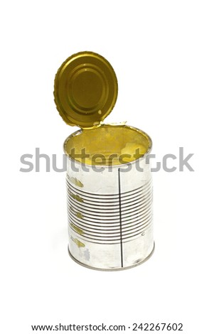Canned on the white background - stock photo