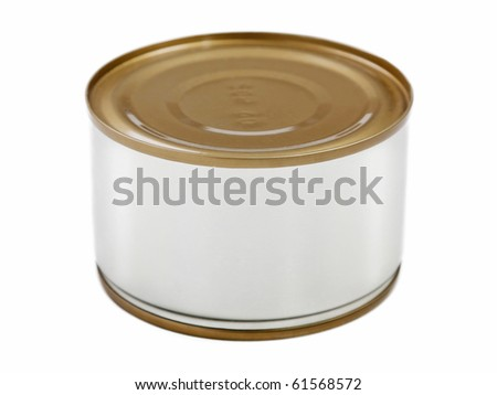 Canned preserved food aluminum metal container can - stock photo