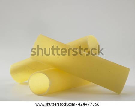 cannelloni on the white background - stock photo