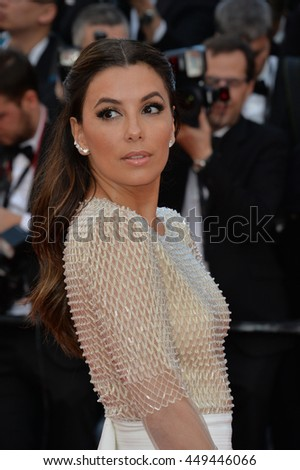 "CANNES, FR - MAY 11, 2016: Actress Eva Longoria at the gala premiere of Woody Allen's ""Cafe Society"" at the 69th Festival de Cannes."