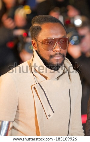 CANNES, FRANCE - JANUARY 22, 2011 - Will I am from group Black Eyed Peas on the red carpet of NRJ Music Award 2011 during the Midem (music industry trade fair) - stock photo