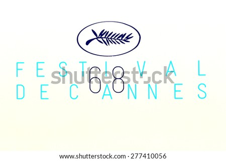 CANNES, FRANCE - MAY 215: A general view of atmosphere on during the 68th Annual Cannes Film Festival on May 12, 2015 in Cannes, France. - stock photo
