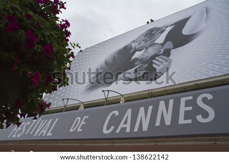 CANNES, FRANCE - MAY 15: A general view of atmosphere Palais des Festivals on during the 66th Annual Cannes Film Festival on May 15, 2013 in Cannes, France. - stock photo