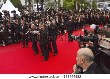 CANNES, FRANCE - MAY 16: A general view of atmosphere Palais des Festivals on during the 66th Annual Cannes Film Festival on May 16, 2013 in Cannes, France.