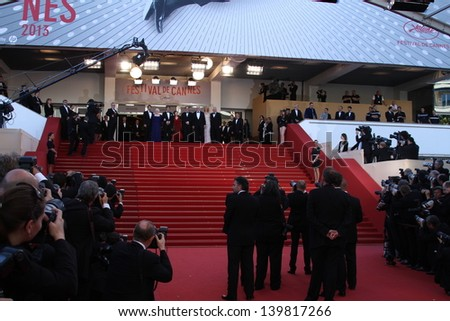 CANNES, FRANCE - MAY 22: A general view of atmosphere Palais des Festivals on during the 66th Annual Cannes Film Festival on May 22, 2013 in Cannes, France.