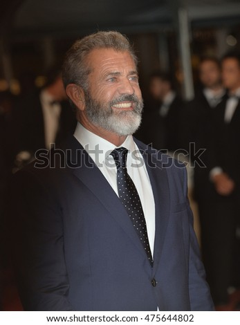 "CANNES, FRANCE - MAY 22, 2016: Actor Mel Gibson at the gala premiere for ""Blood Father"" at the 69th Festival de Cannes."