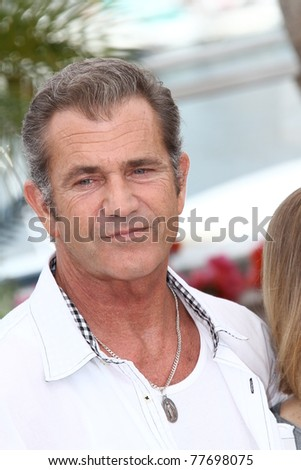 CANNES, FRANCE - MAY 18: Actor Mel Gibson attends 'The Beaver' photocall at the Palais des Festivals during the 64th Cannes Film Festival on May 18, 2011 in Cannes, France. - stock photo