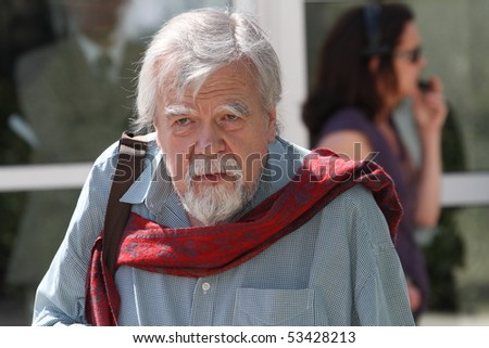 CANNES, FRANCE - MAY 18: Actor Michael Lonsdale attends the 'Of Gods And Men' Photocall at the Palais des Festivals during the 63rd Annual Cannes Film Festival on May 18, 2010 in Cannes, France