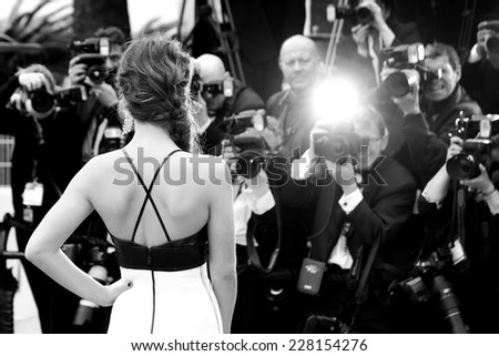 CANNES, FRANCE - MAY 14: Actress Adele Exarchopoulos attends the Opening ceremony during the 67th Cannes Film Festival on May 14, 2014 in Cannes, France. - stock photo