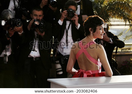 CANNES, FRANCE - MAY 26: Actress Audrey Tautou attends the Palme D'Or Winners photo-call during the 66th Cannes Film Festival on May 26, 2013 in Cannes, France.  - stock photo