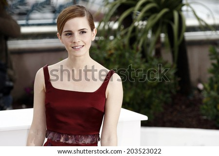 CANNES, FRANCE - MAY 16: Actress Emma Watson attends 'The Bling Ring' photo-call during the 66th Cannes Film Festival on May 16, 2013 in Cannes, France - stock photo
