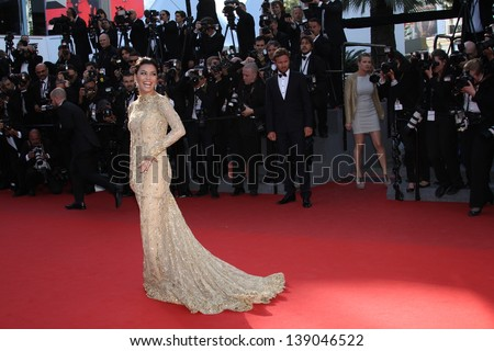 CANNES, FRANCE - MAY 17: Actress Eva Longoria attends the Premiere of 'Le Passe' (The Past) during The 66th Annual Cannes Film Festival at Palais des Festivals on May 17, 2013 in Cannes, France. - stock photo