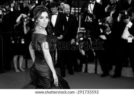CANNES, FRANCE- MAY 17: Actress Eva Longoria Eva Longoria attends the Premiere of 'Carol' during the 68th Cannes Film Festival on May 17, 2015 in Cannes, France. - stock photo