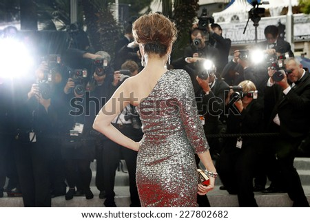 CANNES, FRANCE - MAY 21: Actress Kelly Brook attends the 'Vous N'avez Encore Rien Vu' premiere during the 65th Cannes Film Festival on May 21, 2012 in Cannes, France. - stock photo