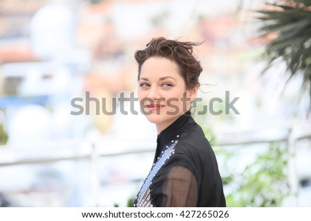 CANNES, FRANCE - MAY 19: Actress Marion Cotillard attends 'It's Only The End Of The World (Juste La Fin Du Monde)' during the Photocall - The 69th Cannes Film Festival on May 19, 2016 in Cannes. - stock photo
