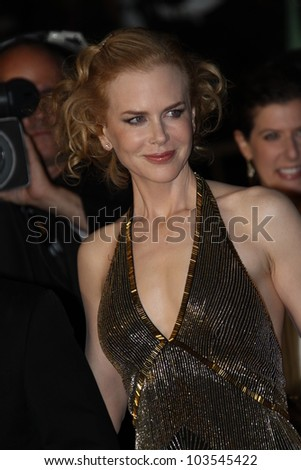 CANNES, FRANCE - MAY 25: Actress Nicole Kidman attends the 'Hemingway & Gellhorn' Premiere during the 65th  Cannes Film Festival at Palais des Festivals on May 25, 2012 in Cannes, France.