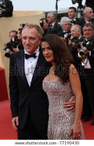 CANNES, FRANCE - MAY 11: Actress Salma Hayek  and Francois-Henri Pinault attend the Opening Ceremony at the Palais des Festivals during the 64th Cannes Film Festival on May 11, 2011 in Cannes, France