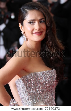 CANNES, FRANCE - MAY 11: Actress Salma Hayek attends the Opening Ceremony at the Palais des Festivals during the 64th Cannes Film Festival on May 11, 2011 in Cannes, France - stock photo