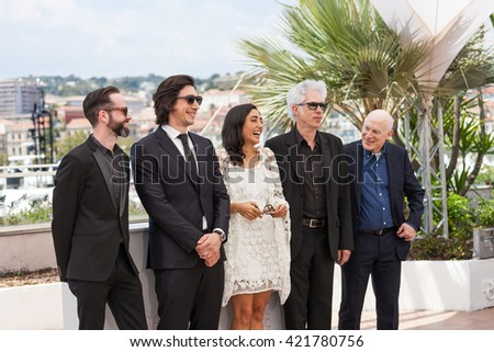Cannes, France - 16 MAY 2016 - Adam Driver, Golshifteh Farahani and director Jim Jarmusch attend the 'Paterson' photocall during the 69th annual Cannes Film Festival