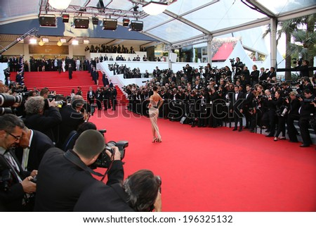 CANNES, FRANCE - MAY 18: Adriana Lima attends 'The Homesman' premiere during the 67th Annual Cannes Film Festival on May 18, 2014 in Cannes, France.