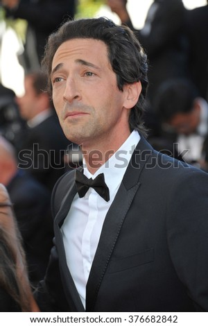 CANNES, FRANCE - MAY 24, 2014: Adrien Brody at the gala awards ceremony at the 67th Festival de Cannes. - stock photo