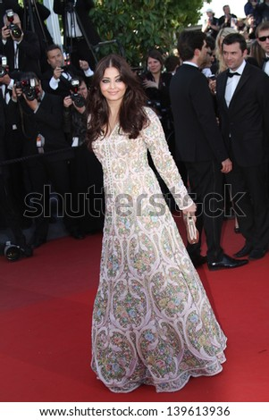 CANNES, FRANCE - MAY 20: Aishwarya Rai attends the 'Blood Ties' Premiere during the 66th  Cannes Film Festival at the Palais des Festivals on May 20, 2013 in Cannes, France. - stock photo