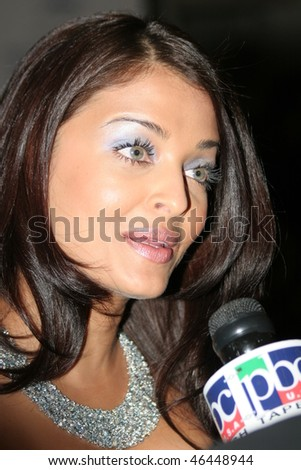 CANNES, FRANCE - MAY 16: Aishwarya Rai attends the opening evening of the FIF 2007 with the screening of the Wong Kar Wai's movie ''My Blueberry Nights'' on May 16, 2007 in Paris, France. - stock photo