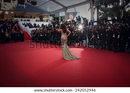 CANNES, FRANCE - MAY 21: Aishwarya Rai attends 'The Search' premiere during the 67th Annual Cannes Film Festival on May 21, 2014 in Cannes, France. - stock photo