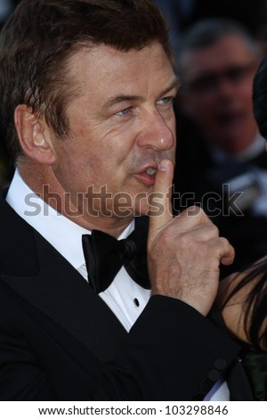 CANNES, FRANCE - MAY 22:  Alec Baldwin attends the 'Killing Them Softly' Premiere during 65th Annual Cannes Film Festival at Palais des Festivals on May 22, 2012 in Cannes, France.