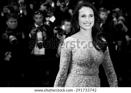 CANNES, FRANCE- MAY 16: Andie McDowell attends 'The Sea Of Trees' Premiere during the 68th Cannes Film Festival on May 16, 2015 in Cannes, France. - stock photo