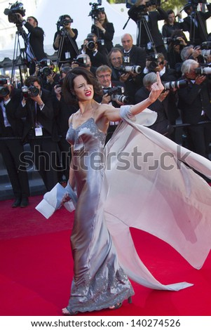 CANNES, FRANCE - MAY 26: Asia Argento attends the Premiere of 'Zulu' and the Closing Ceremony of The 66th  Cannes Film Festival at Palais on May 26, 2013 in Cannes, France. - stock photo