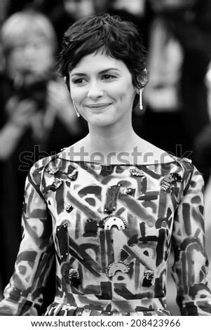 CANNES, FRANCE - MAY 14: Audrey Tautou attends the Opening ceremony during the 67th Cannes Film Festival on May 14, 2014 in Cannes, France - stock photo