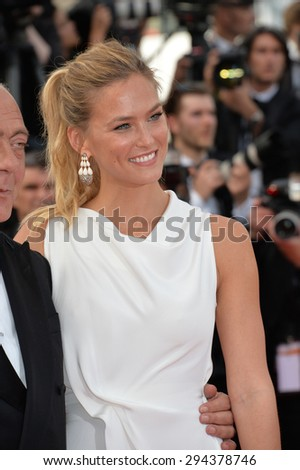CANNES, FRANCE - MAY 13, 2015: Bar Refaeli at the gala opening ceremony of the 68th Festival de Cannes.