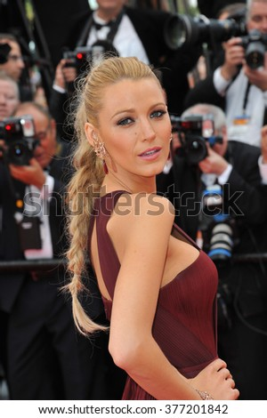 "CANNES, FRANCE - MAY 14, 2014: Blake Lively at the gala premiere of ""Grace of Monaco"" at the 67th Festival de Cannes."