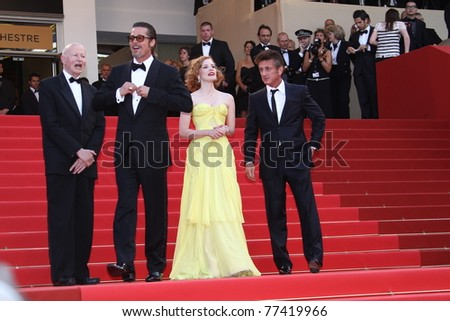 CANNES, FRANCE - MAY 16: Brad Pitt attends 'The Tree Of Life' premiere during the 64th Annual Cannes Film Festival at Palais des Festivals on May 16, 2011 in Cannes, France. - stock photo