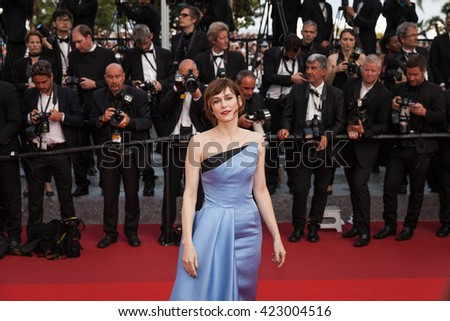 Cannes, France - 18 MAY 2016 - Canadian actress Marie-Josee Croze arrives 'The Unknown Girl (La Fille Inconnue)' Premiere during the 69th annual Cannes Film Festiva - stock photo