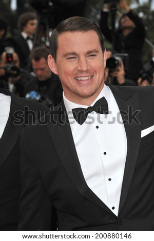 "CANNES, FRANCE - MAY 19, 2014: Channing Tatum at the gala premiere of his movie Foxcatcher"" at the 67th Festival de Cannes.  - stock photo"