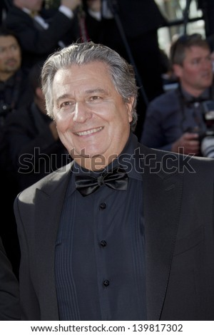 CANNES, FRANCE - MAY 23: Christian Clavier attends the 'Nebraska' premiere during The 66th Cannes Film Festival at the Palais des Festival on May 23, 2013 in Cannes, France. - stock photo