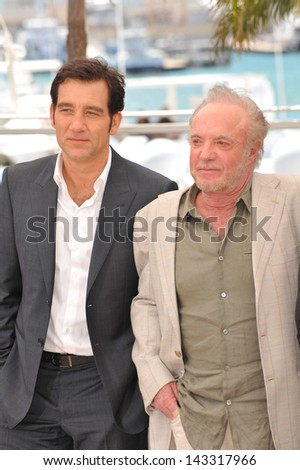 "CANNES, FRANCE - MAY 20, 2013: Clive Owen & James Caan at the photocall for their movie ""Blood Ties"" at the 66th Festival de Cannes."