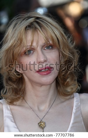 CANNES, FRANCE - MAY 20: Courtney Love attends the 'This Must Be The Place' premiere during the 64th Annual Cannes Film Festival at Palais des Festivals on May 20, 2011 in Cannes, France - stock photo